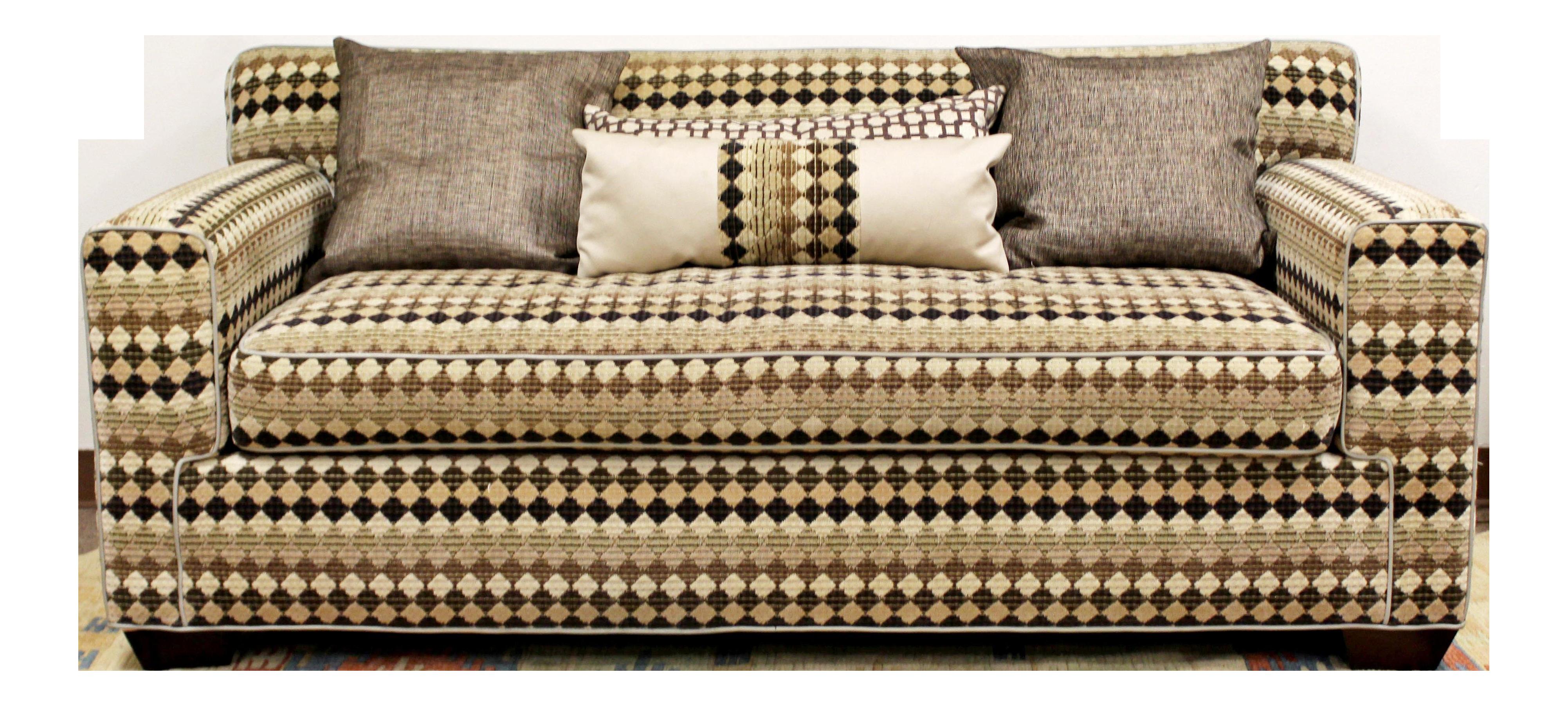 1970s Mid Century Modern Baughman Loveseat Sofa