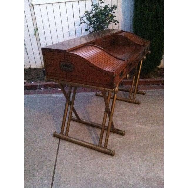 Drexel Mid Century Modern Roll Top Desk For Sale - Image 5 of 5