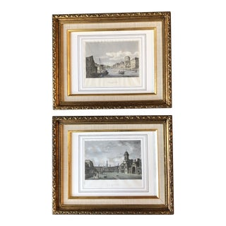 Gallery Wall Collection 2 Original Vintage Engravings of Ireland Framed For Sale