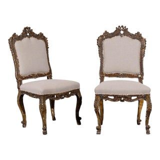 18th Century Venetian Style Side Chairs - a Pair For Sale