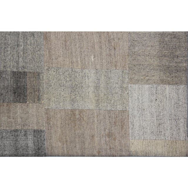 """Modern Hand Knotted Patchwork Kilim - 13'0"""" x 9'10"""" For Sale - Image 3 of 3"""