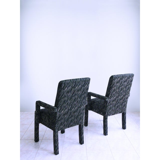 1980s 1980s Vintage Parsons Armchairs- A Pair For Sale - Image 5 of 7