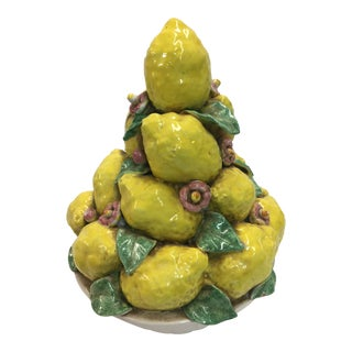 Italian Ceramic Center Piece Lemons For Sale