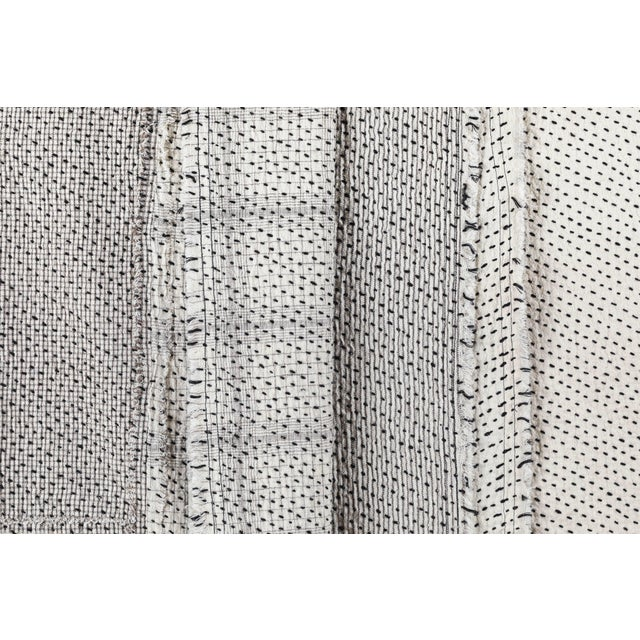 Chindi Indian Kantha Stitch Quilted Bedcover For Sale In Los Angeles - Image 6 of 10