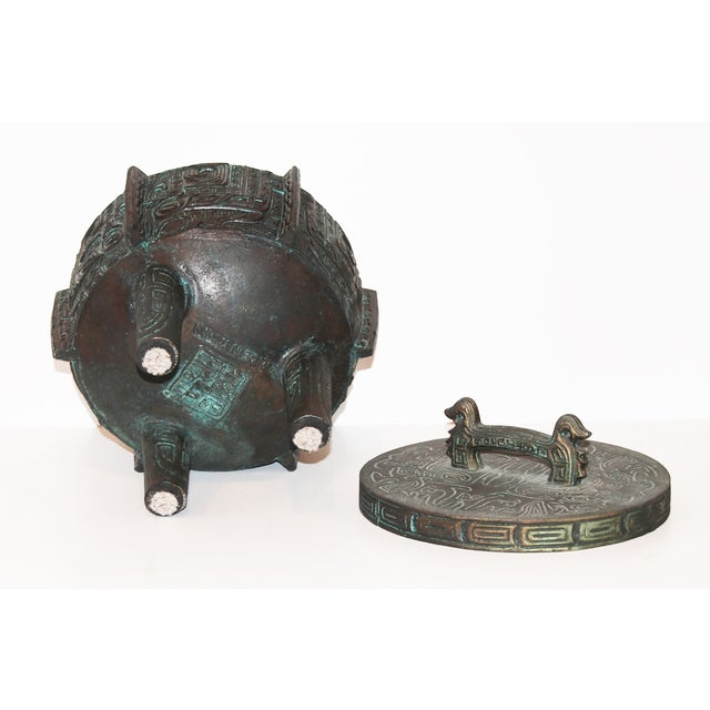 James Mont-Attributed Mayan Ice Bucket For Sale In Palm Springs - Image 6 of 7