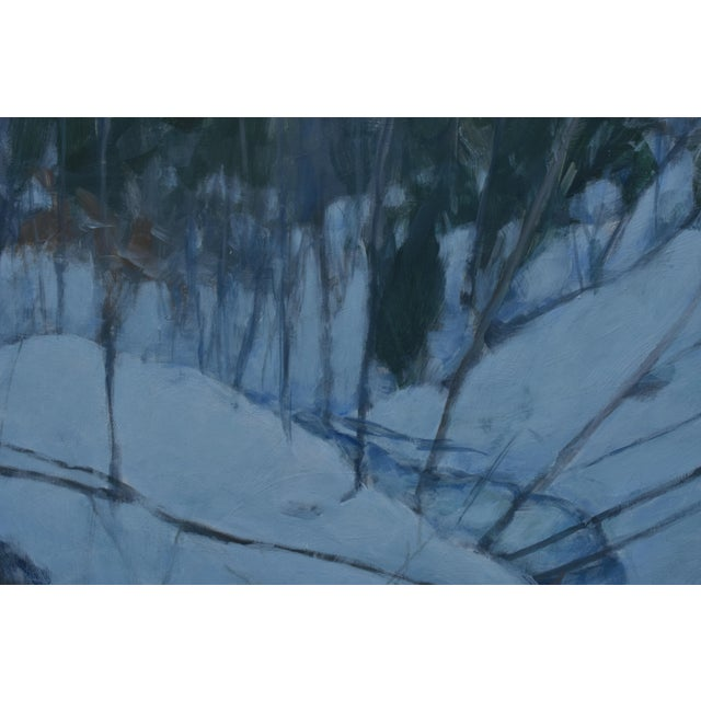 """Contemporary Stephen Remick """"Dusk in Winter by the Brook"""" Painting For Sale - Image 3 of 9"""