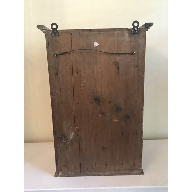 Brown 1930s French Walnut Egg Wall Cabinet For Sale - Image 8 of 12