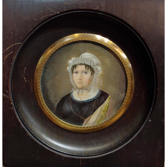 Late 18th Century 18th Century English School Husband & Wife Portraits Miniature Paintings - a Pair For Sale - Image 5 of 10