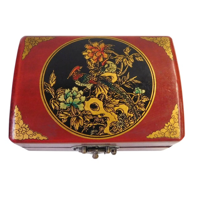 Chinese Red Rectanuglar Box - Image 1 of 5
