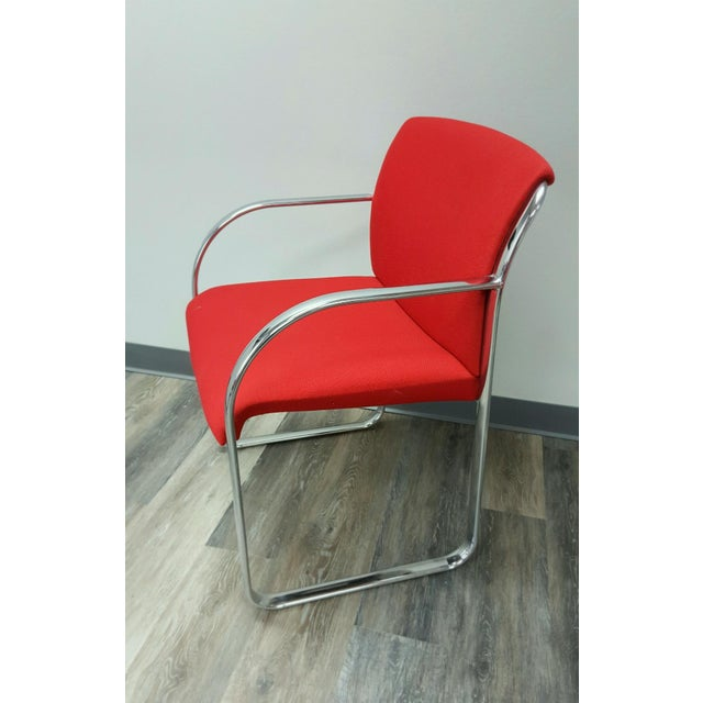 Curvilinear Chrome Chairs - Set of 6 - Image 7 of 9