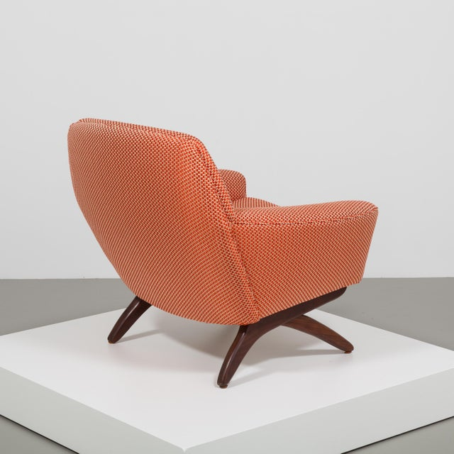 1950s A Danish Leif Hansen attributed Upholstered Armchair 1950s For Sale - Image 5 of 9