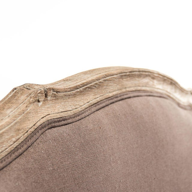 Wood Hollow Maison Settee in Aubergine For Sale - Image 7 of 10