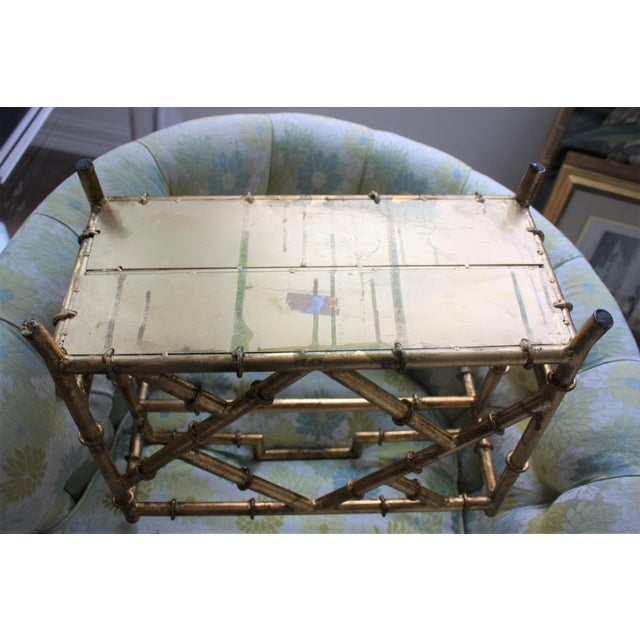 Asian Gilt Faux Bamboo Chinoiserie Style Magazine Rack For Sale - Image 3 of 11