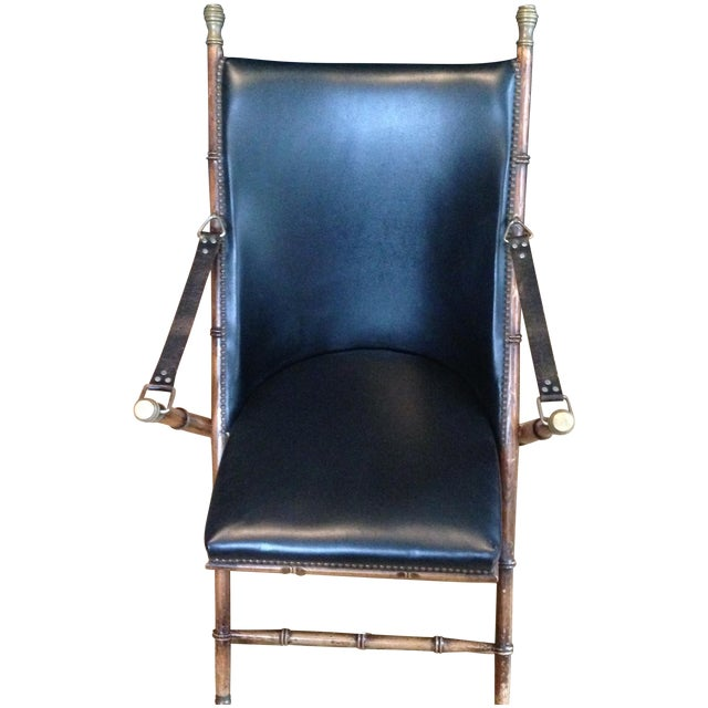 Antique Folding Campaign Chair - Image 1 of 7