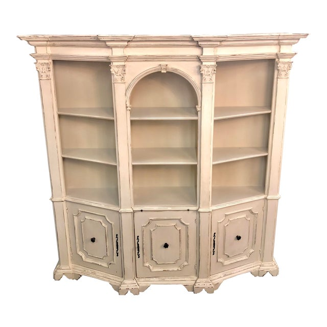 Mid 20th Century Italian Tuscan Style Open Bookcase For Sale