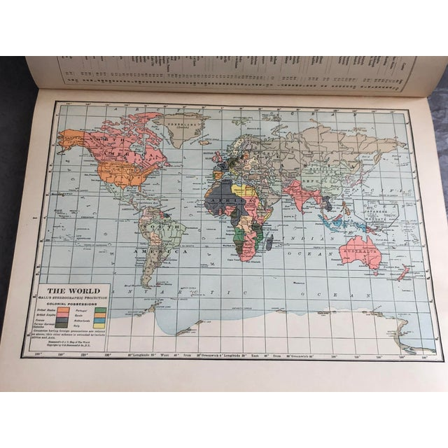 1920s World Atlas With Decorative Cover For Sale - Image 12 of 13