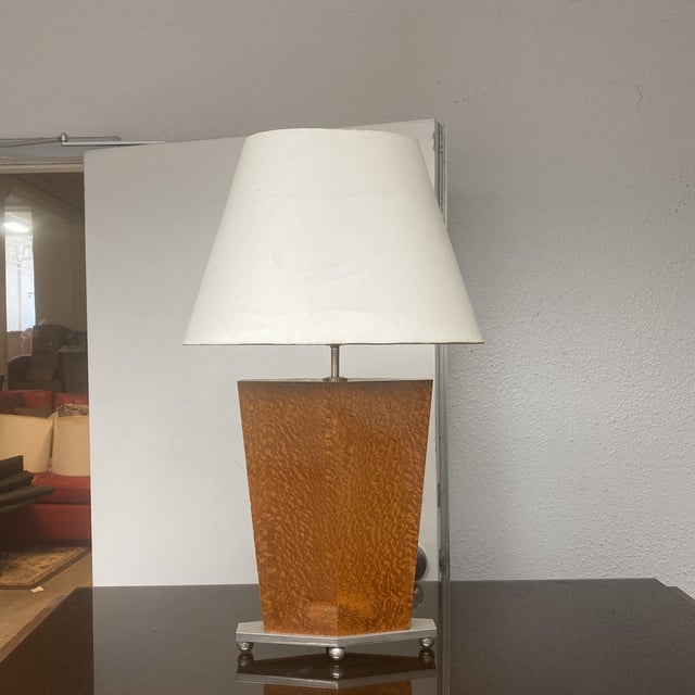 H R S Design Inc Custom Polished Burl Wood Table Lamp For Sale - Image 12 of 12