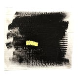 Image of Abstract Painting in Black and Yellow For Sale