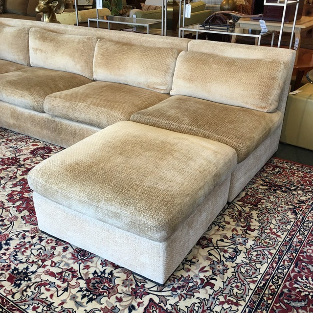 Kreiss 4-Piece Beige Sectional - Image 3 of 10