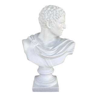 Italian White Lacquered Terracotta Bust of Apollo For Sale