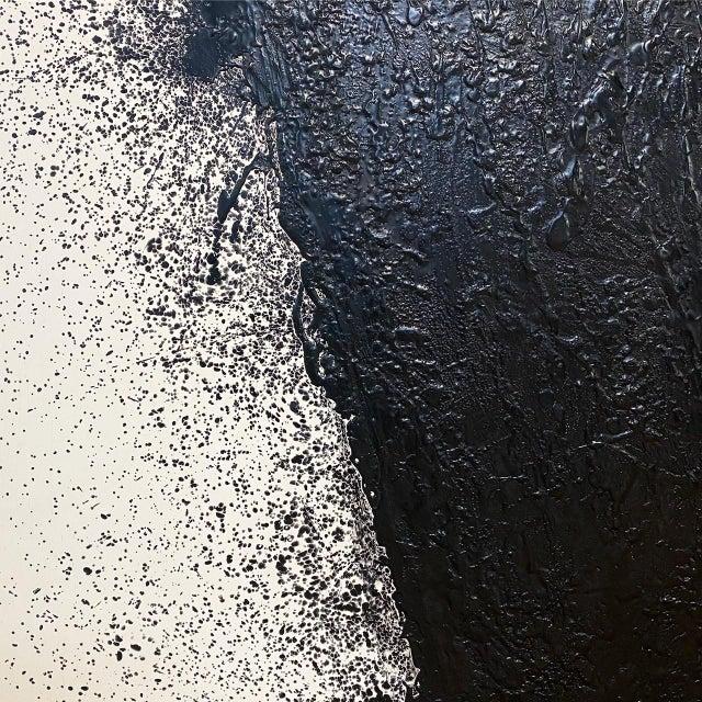 "John O'Hara ""Tar, 46 (Decontructed)"" Encaustic Painting, 4 Panels For Sale In Saint Louis - Image 6 of 8"