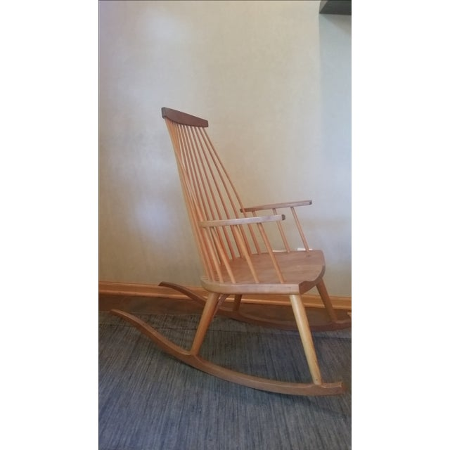 Country Thomas Moser Rocking Chair For Sale - Image 3 of 4