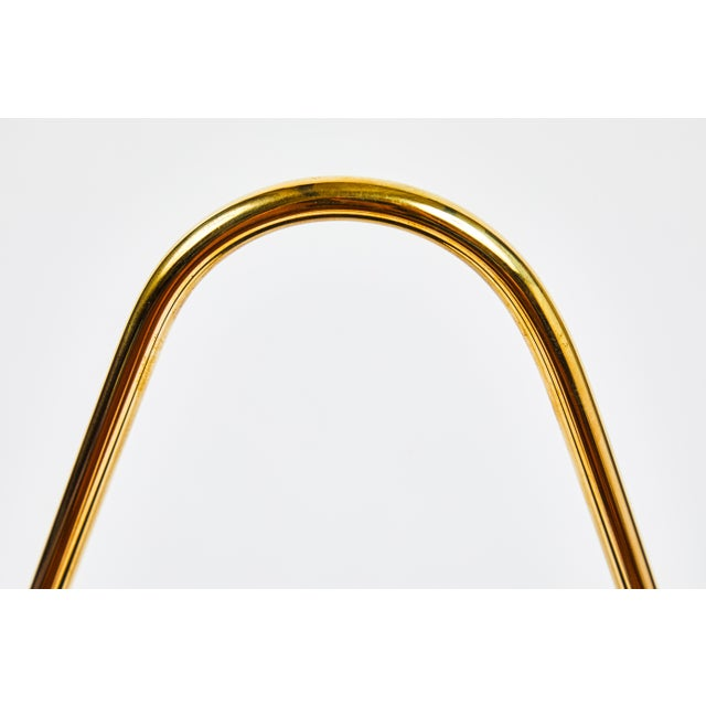 Carl Auböck Model #3808 Brass and Leather Magazine Rack For Sale - Image 10 of 11