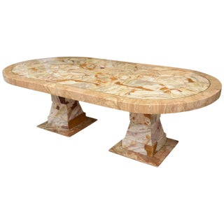Muller of Mexico Onyx Racetrack Dining Table For Sale