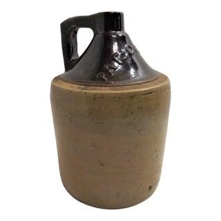 Antique Crock Embossed Pat'd Oct 3rd 1882 Salt Glaze Stoneware Whiskey Jug For Sale