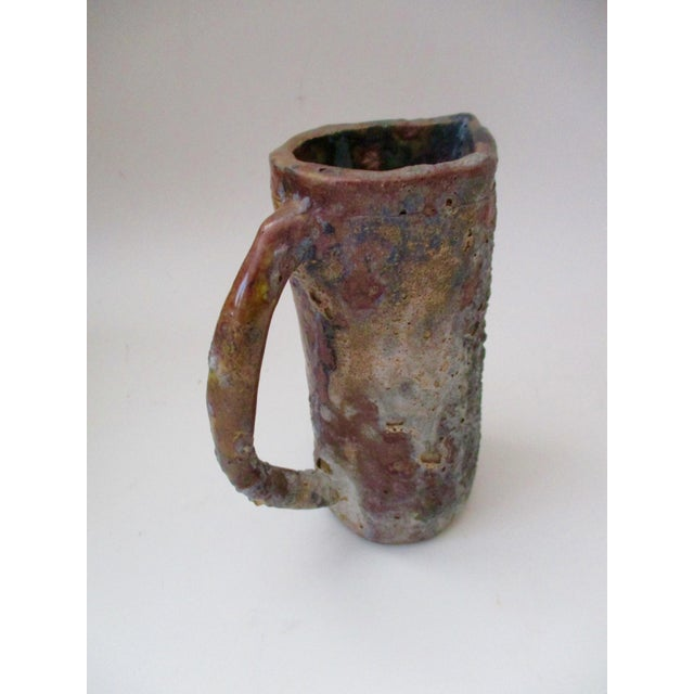 Brutalist Thick Glazed Pitcher Vase - Image 9 of 10