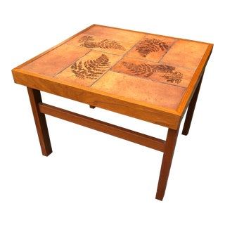 Gangso Mobler Organic Modern Vintage Danish Teak Side Table For Sale