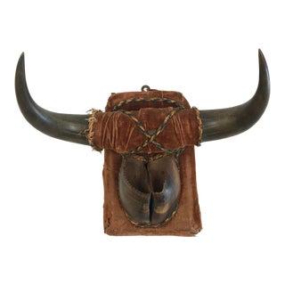 19th Century Folk Art Horn & Hoof Match-Holder Wall Plaque For Sale