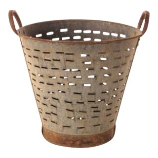 Authentic Vintage Olive Bucket