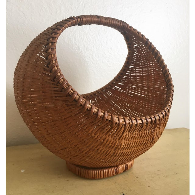 Fall Harvest Round Rattan Basket - Image 2 of 6