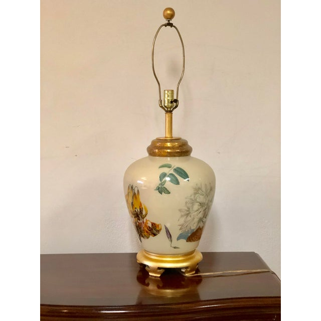 Chinoiserie Style Floral & Botanical Table Lamp For Sale In Buffalo - Image 6 of 8