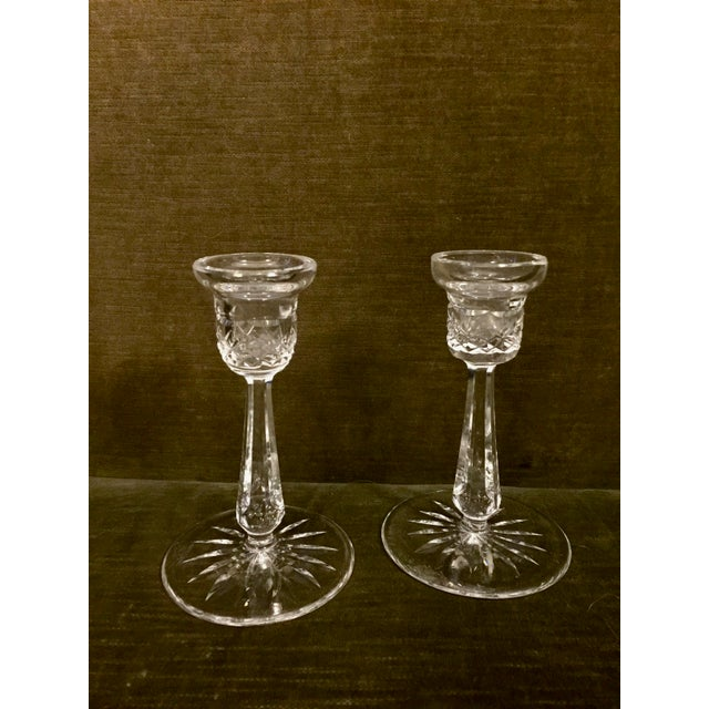 Cut Glass Candlesticks - A Pair For Sale In Boston - Image 6 of 6