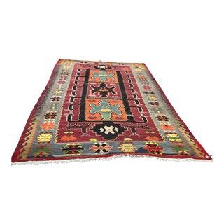Caucasian Handmade Kilim Rug - 5′10″ × 10′5″