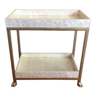 Society Social Collection Capiz Bar Cart Table