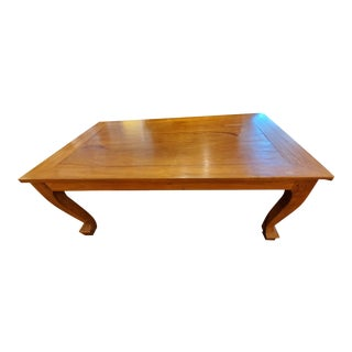 Teak Burlwood Dining Table For Sale