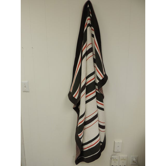 Large Brown and Orange Stripes Allessandra Branca Throw For Sale In Miami - Image 6 of 6