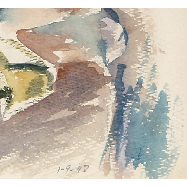 Artist: Eve Nethercott, American (1925 - 2015) Title: Still Life with Books (P6.26) Year: 1948 Medium: Watercolor on Paper...