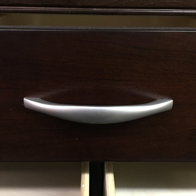 Basset Espresso Dresser with Metal Pulls - Image 4 of 10