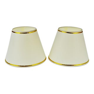 Vintage Tapered Lamp Shade - a Pair