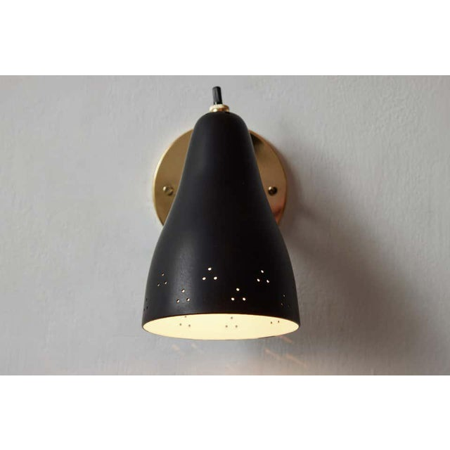1950s 1950s Perforated Italian Wall Lamp Attributed to Giuseppe Ostuni for Oluce For Sale - Image 5 of 13