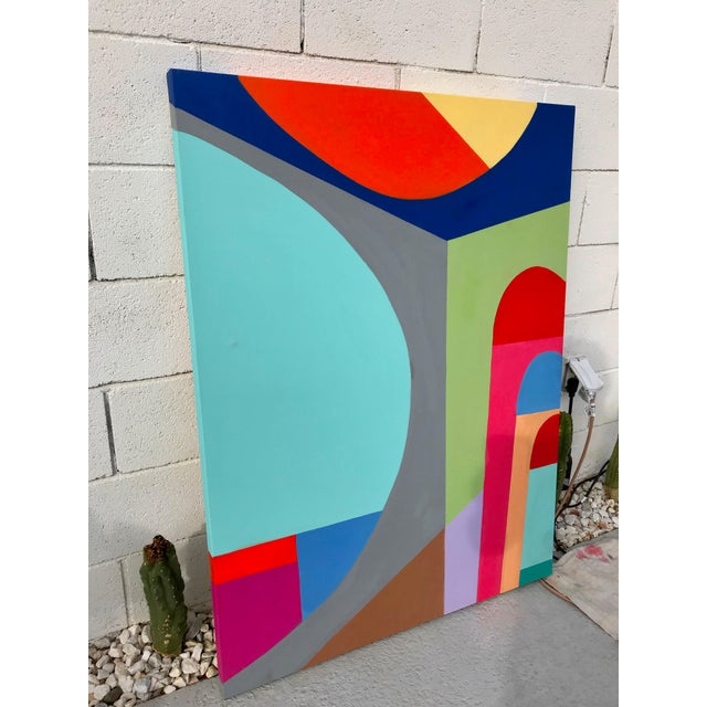 Abstract Tony Marine Mid-Century Inspired Painting For Sale - Image 3 of 4