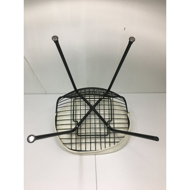 Metal Vintage White on Black D K R Bikini Chair by Charles Eames for Herman Miller For Sale - Image 7 of 13
