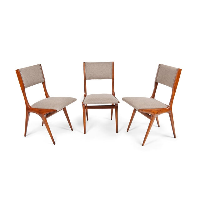 Italian Carlo De Carli Mod 158 Dining Chairs, Italy, 1953 - Set of 6 For Sale - Image 3 of 10