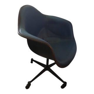 Herman Miller Fiberglass & Upholstered Armchair