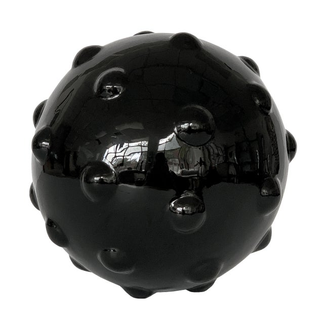 Stone Monumental Obsidian Mine Sphere Sculpture For Sale - Image 7 of 7