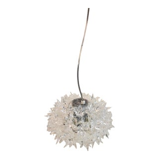 Kartell Bloom S2 Transparent Crystal Pendant For Sale